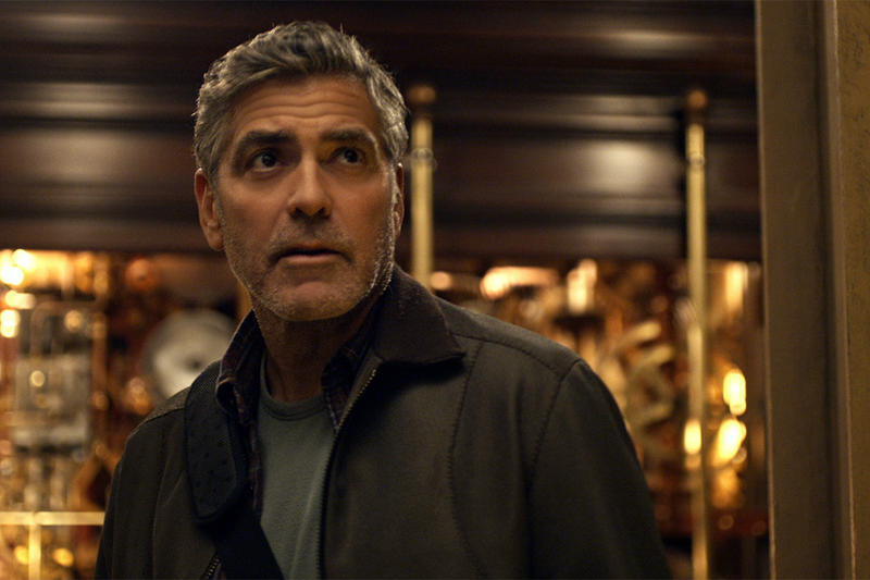 "George Clooney, plays the role of Frank Walker, in a scene from Disney's ""Tomorrowland."""