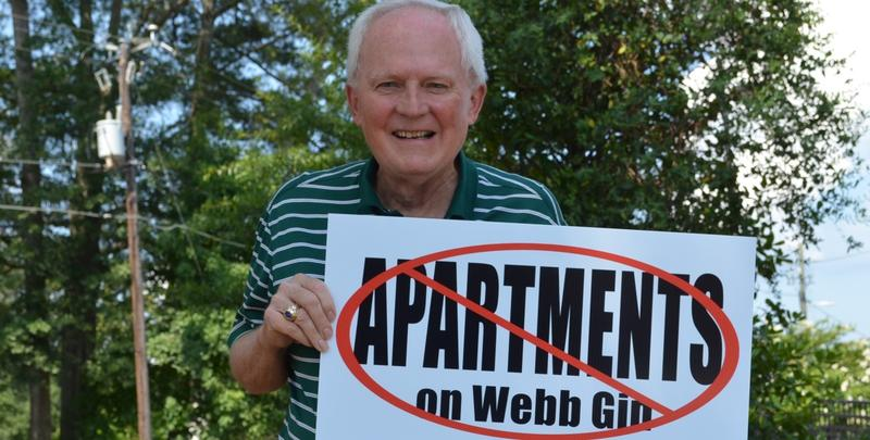 Dennis Goodenow, resident of Snellville and member of Knollwood Lakes Homeowners Association, talks about how a proposed housing development in the community has neighbors concerned.