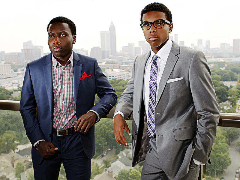 Jordan Williams and Brandon Iverson, both high school seniors and business owners, started the Young Moguls clothing line to help empower young people.