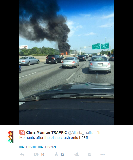 Social Media Reacts To Atlanta Highway Plane Crash | 90 1 FM