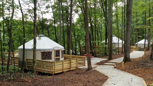 Yurts Now Open At Sweetwater Creek State Park 90 1 Fm Wabe