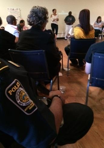 Two Uniformed Marta Police Dept Officers Were Present At Tuesdays Town Hall Forum Addressing A Recent Attack Of Two Transgender People On A Marta Train