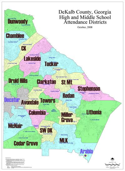 Middle District Of Georgia Map.Druid Hills Considering Breaking Off From Dekalb To Join Atlanta