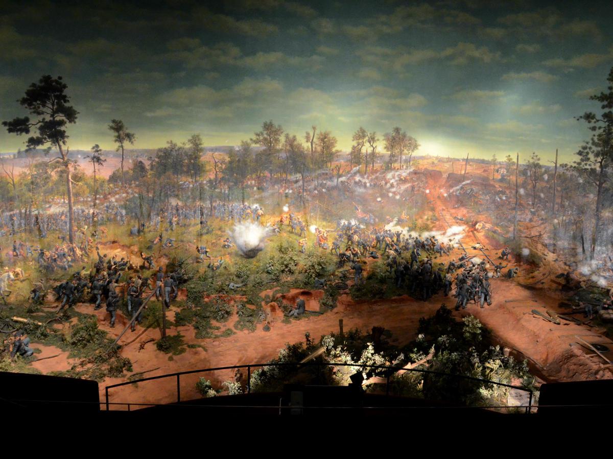 Cyclorama secrets the hidden details in the battle of for Atlanta mural artist