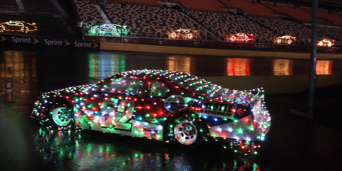 Speedway Christmas at Charlotte Motor Speedway is one of Kevin Benefield's  holiday picks. - Finding Holiday Festivities Through A Southern Rock Classic WABE