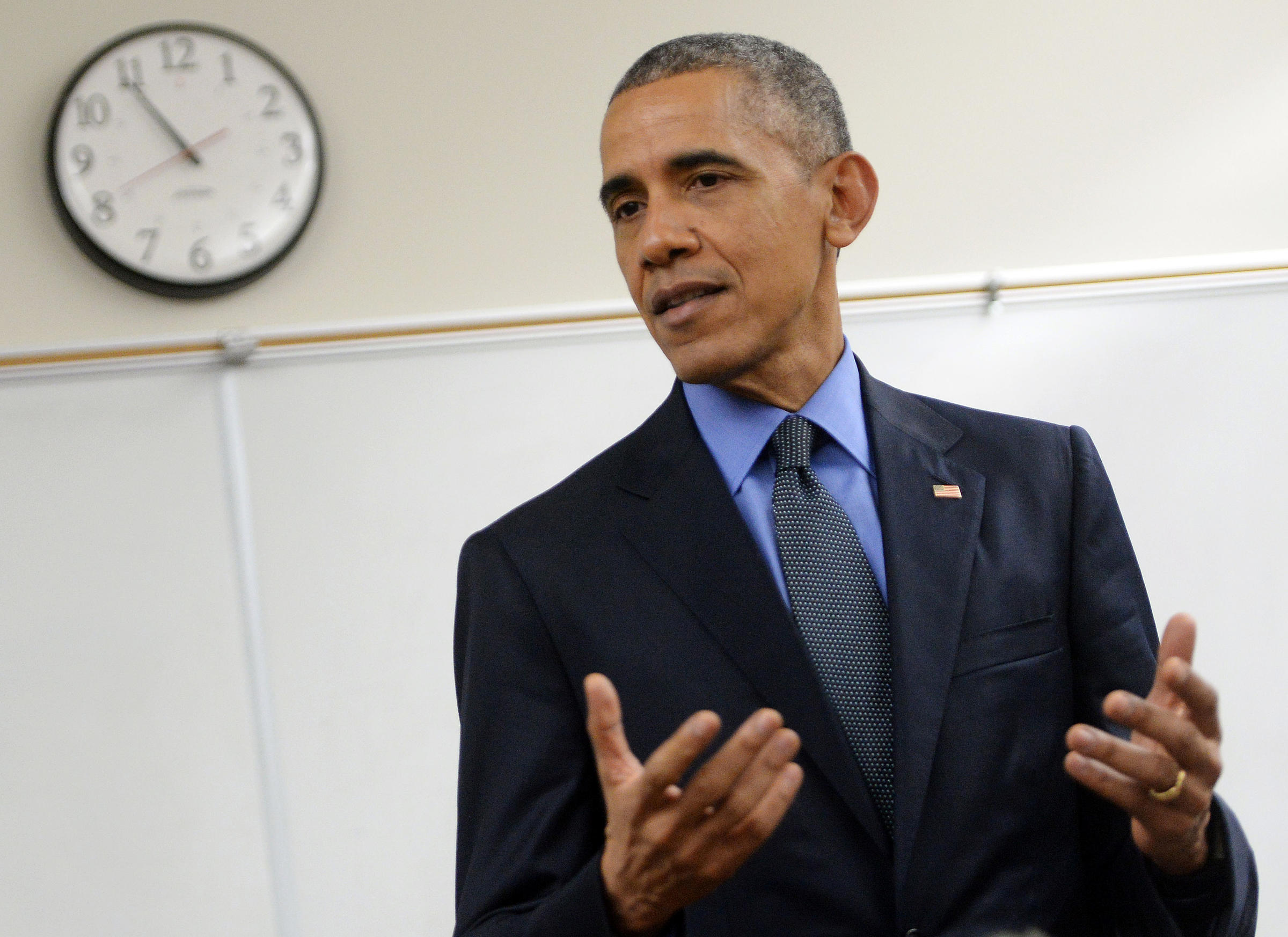 obama starts 2016 a fight over gun control wabe 90 1 fm president barack obama delivers a brief statement in a classroom at n springs high school on dec 18 2015 in san bernardino california
