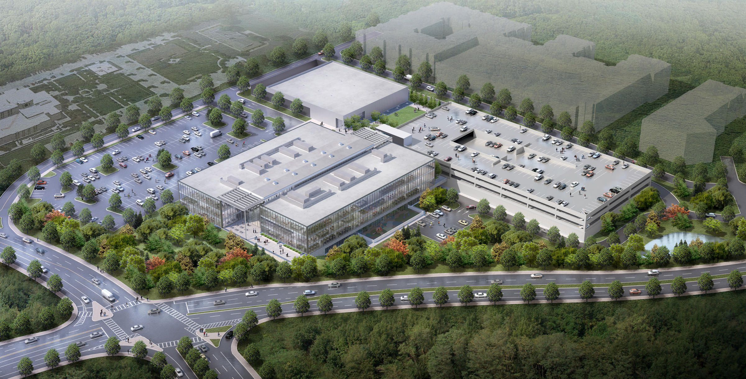 Mercedes benz releases new headquarters renderings wabe for Mercedes benz athens ga
