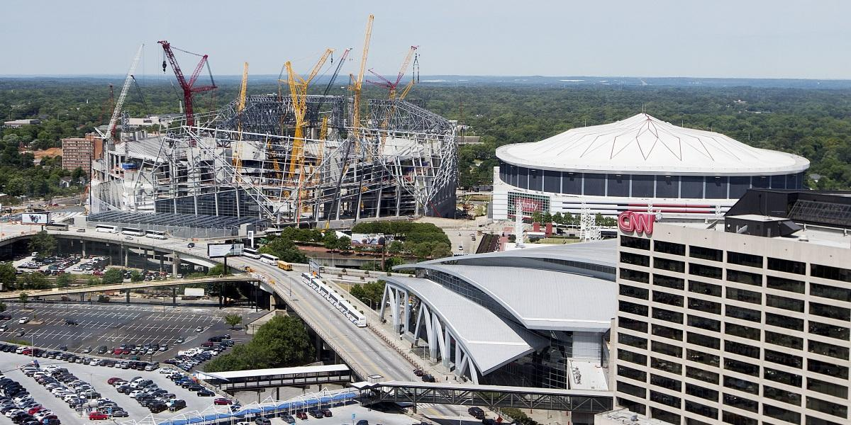 Georgia dome in downtown atlanta to be imploded next year for Atlanta ga mercedes benz stadium
