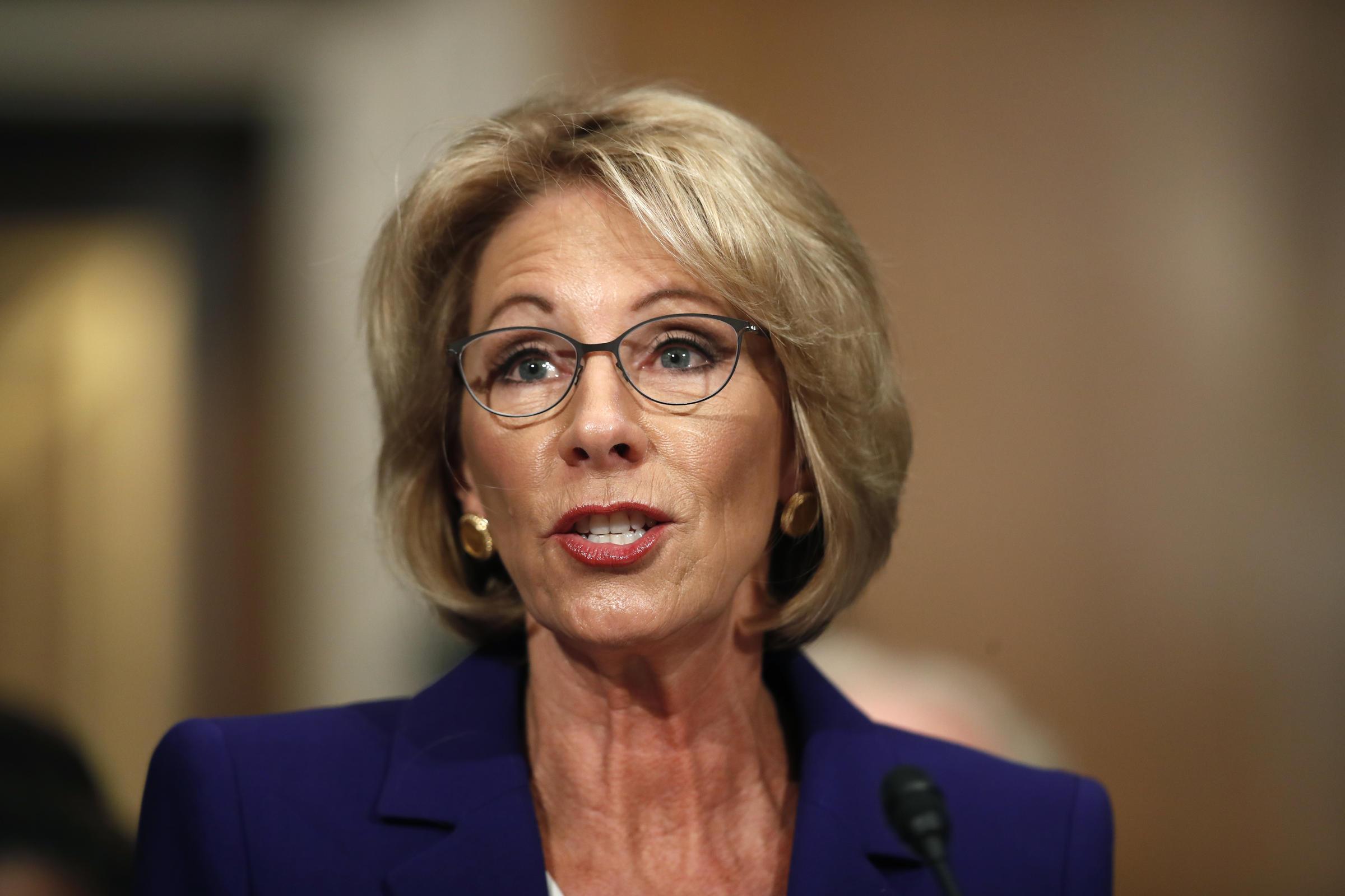 Education Issues At Stake As Senate >> Senate Confirms Betsy Devos As Education Secretary Wabe 90 1 Fm