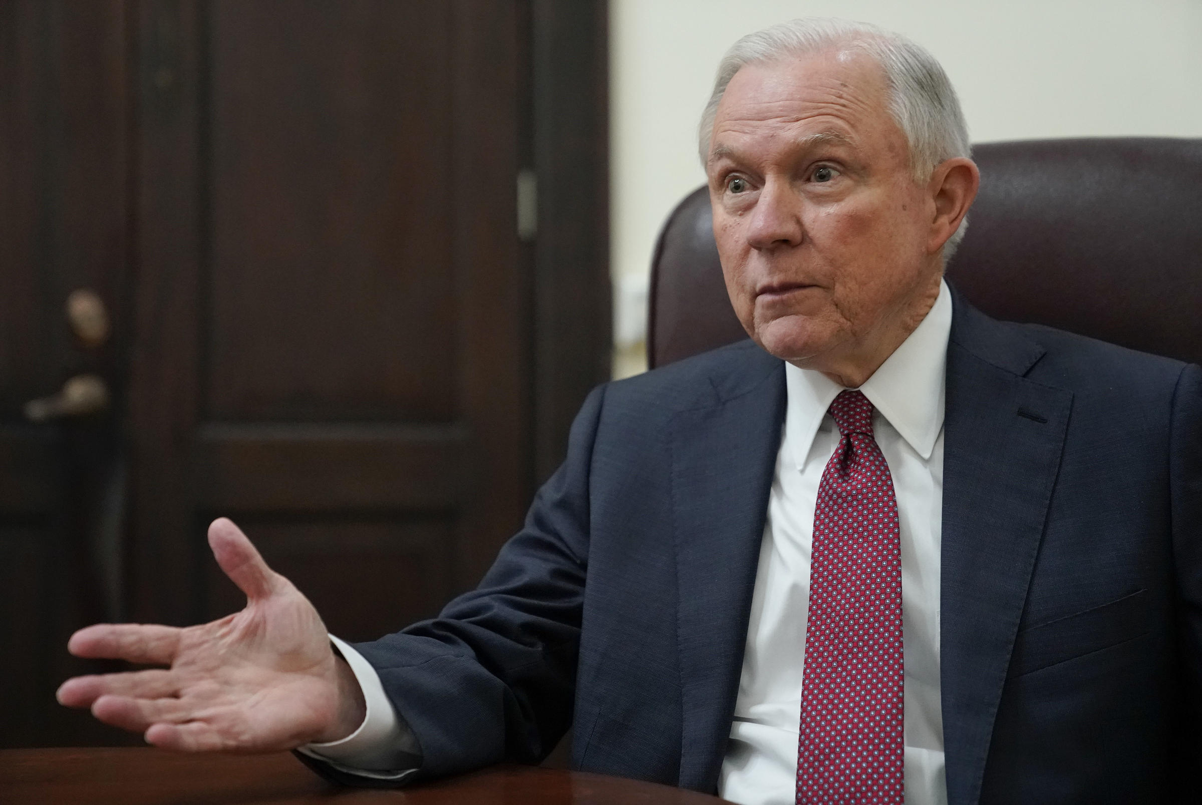 Sessions says leak probes have tripled and four have been charged