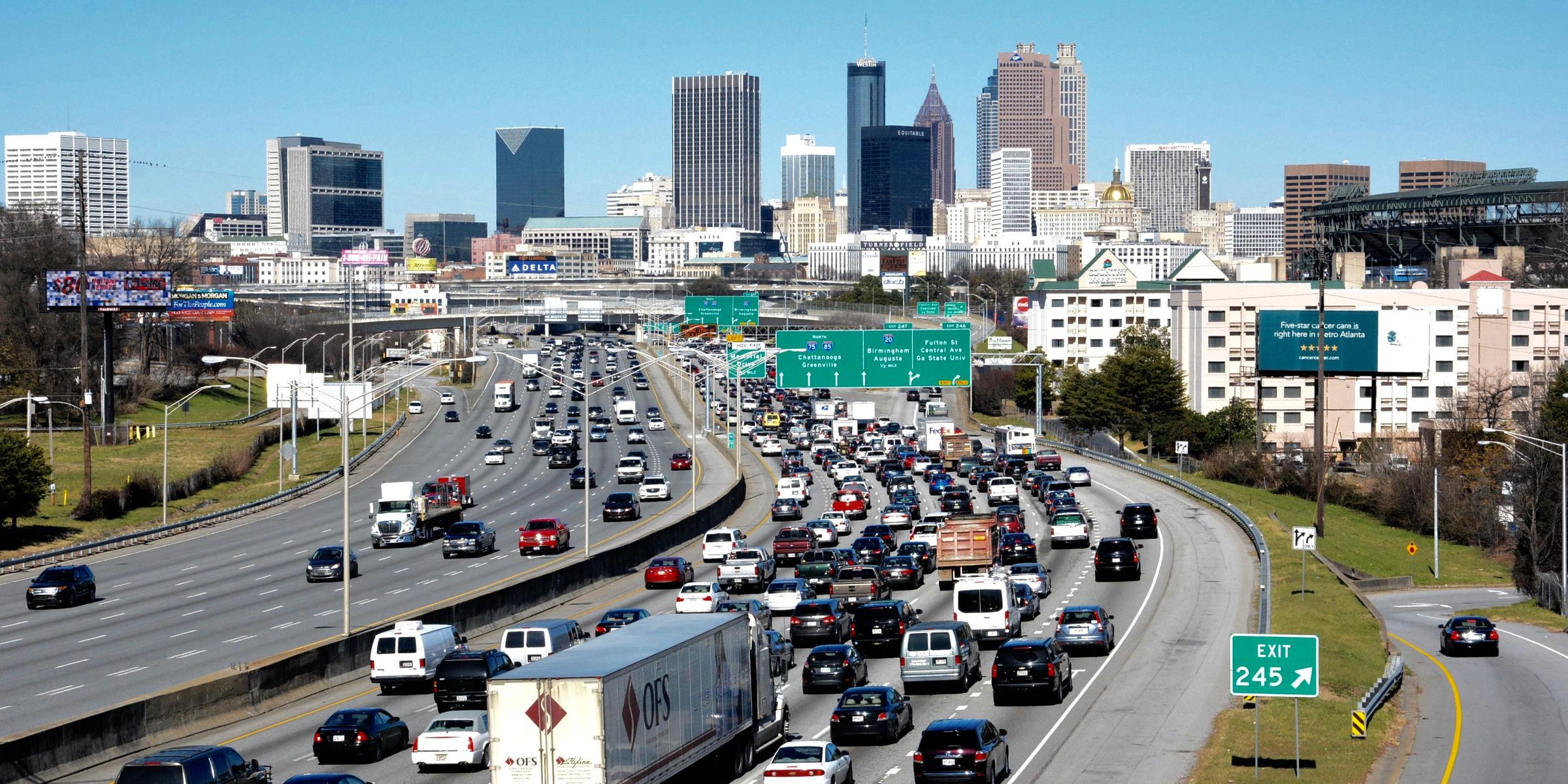 Atlanta Traffic Congestion Ranks 13th Worst In Nation