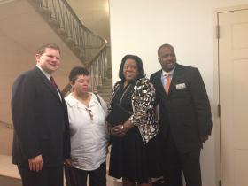 Dan Maffei joins Tubman House President Karen Hill and other local offials at Congressional hearing