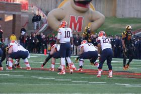 Terrel Hunt leads the Orange offense against the Terrapins