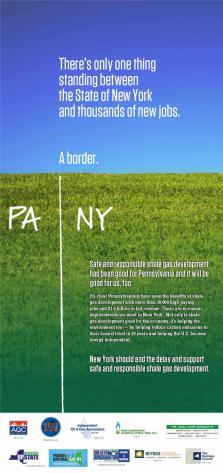 Independent Oil and Gas Association ad promoting increased natural gas drilling