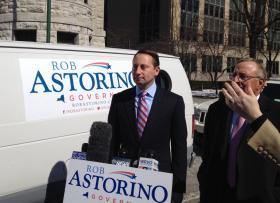 Republican Rob Astorino, supported by Senator John DeFrancisco (right)
