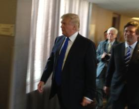 Donald Trump and Onondaga County Republican Party Chair Tom Dadey