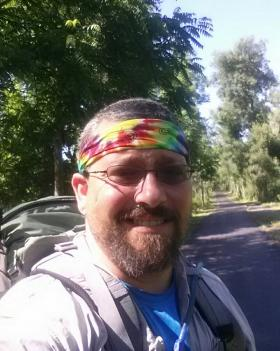 Scott 'Atlas' Armstrong on the Erie Canal Trail in Western New York.