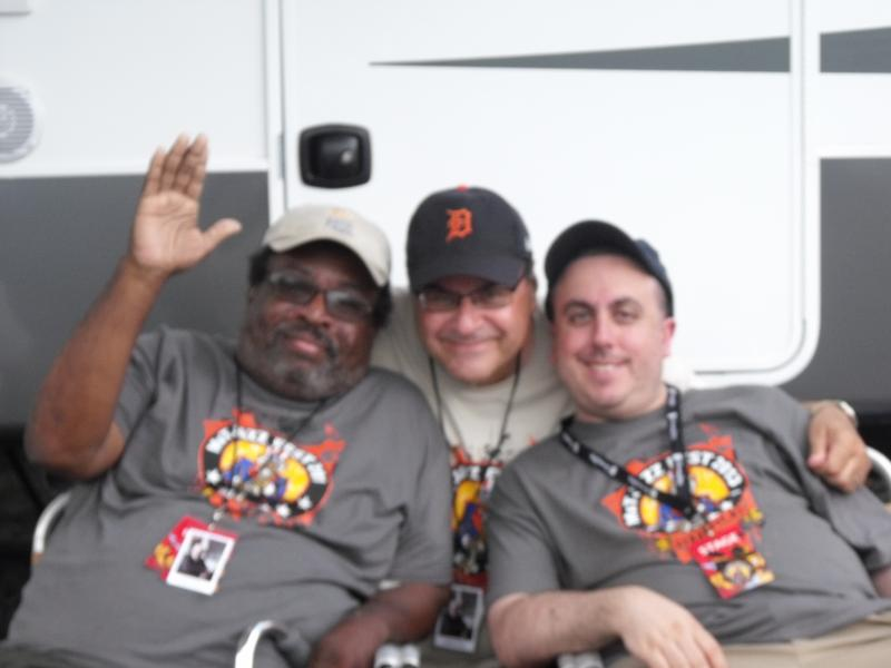 Jazz Fest board President and WAER announcer, Oscar Peterson; festival director, Frank Malfitano; and WAER Music Director, Eric Cohen, enjoying some downtime back stage between sets.