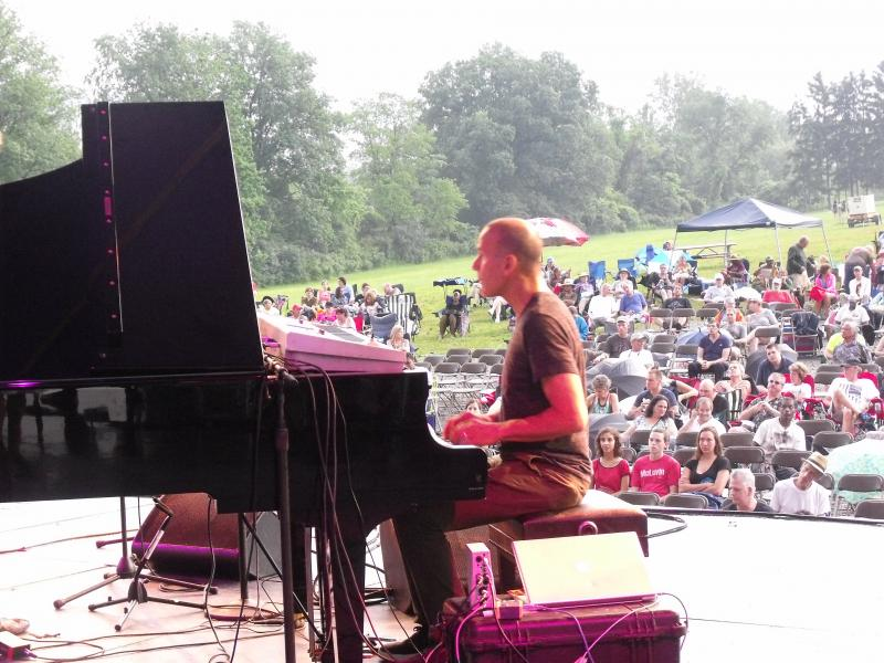 Yellowjackets pianist/keyboardist, Russell Ferrante, played with verve and subtle touches for a loyal crowd.