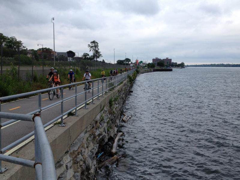 Buffalo and Tonowanda have invested in paved bikeways along the Niagara River and Erie Canal for biking and other uses.
