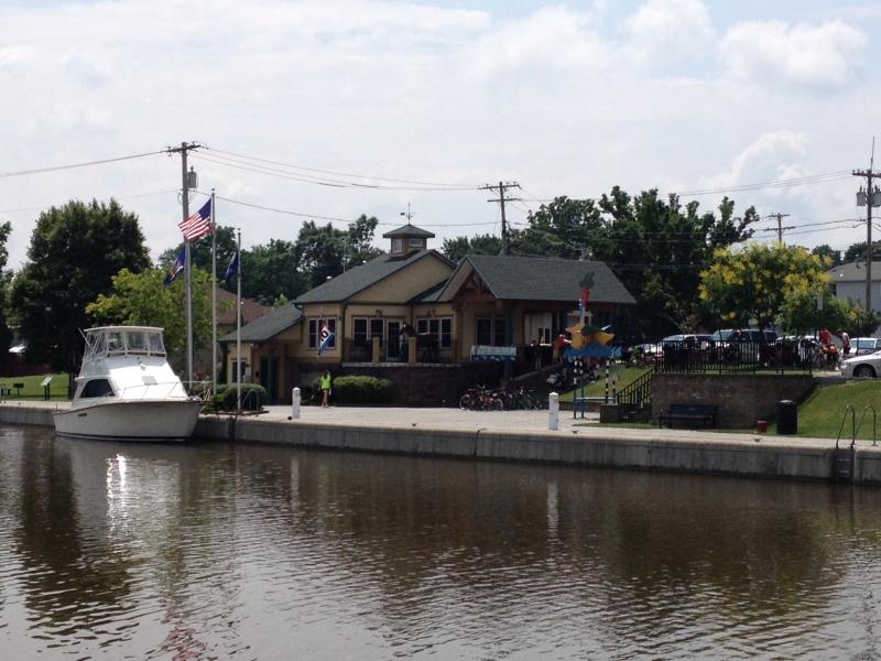 Brockport's modern waterfront appeal, attracting visitors from the canal, trail and waterway.