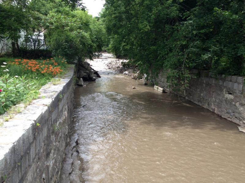 Debris and damage evident in streams such as this one in Herkimer