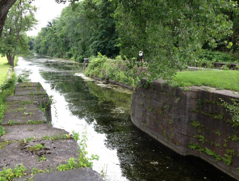 Yankee Hill Lock in Fort Hunter is one of the few lock of the historic Erie Canal that still has water in it.