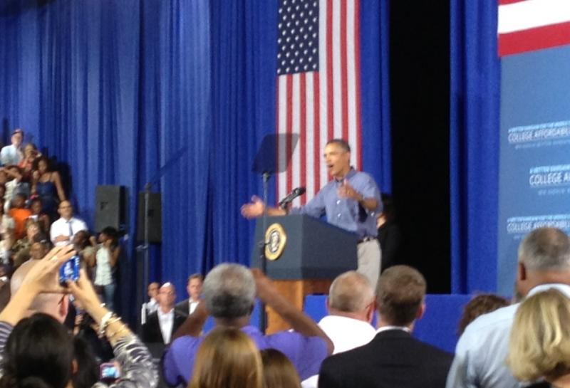 President Obama enthusiatically supported access to higher education, while laying out a 3-part plan to help.