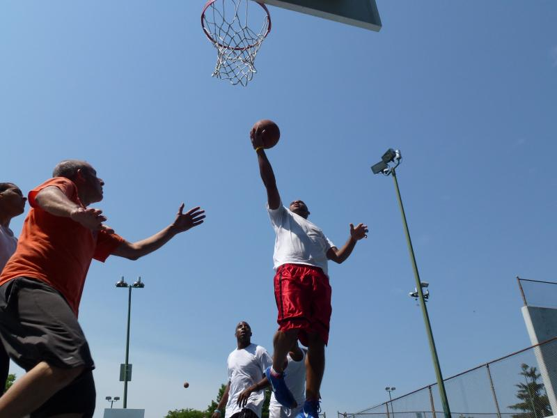 Lloyd Johnson and others hoop it up