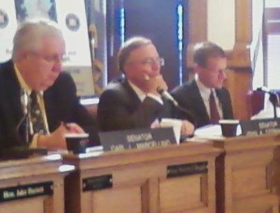 Senators Carl Marcellino, John DeFrancisco, Dave Valesky