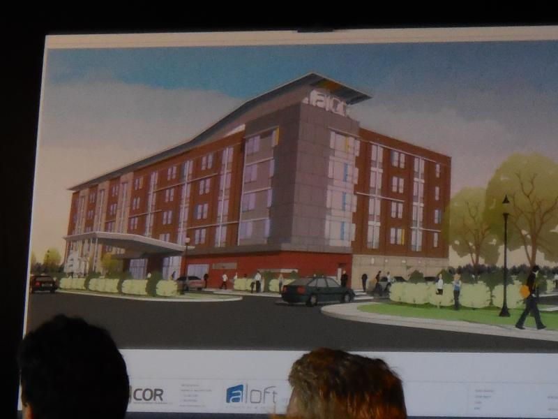 Artists rendering of the Aloft Hotel in the Inner Harbor