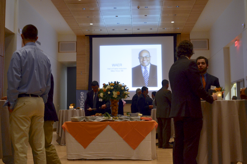 Festivities were held in the Joyce Hergenhan Auditorium in Newhouse III