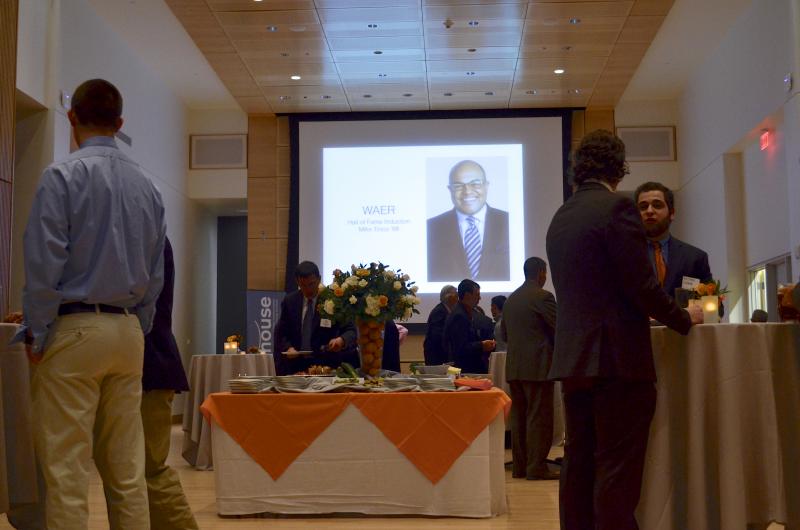 Festivities were held in the Joyce Hergenhan Auditorium in Newhouse III