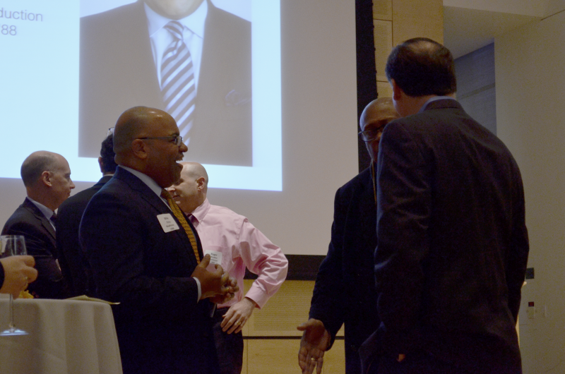 Mike chatting it up with SU Football great Floyd Little