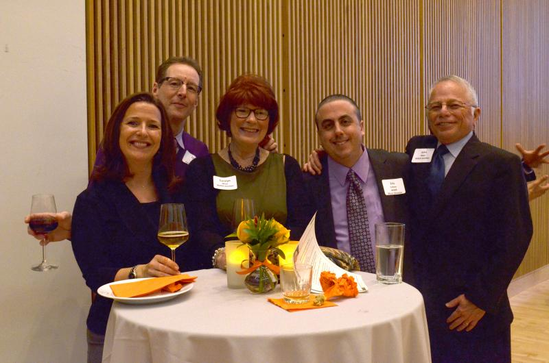 WAER staffers Jennifer Weekes-Osada, Chris Bolt and Eric Cohen pose with supporters John and Carolyn Mays
