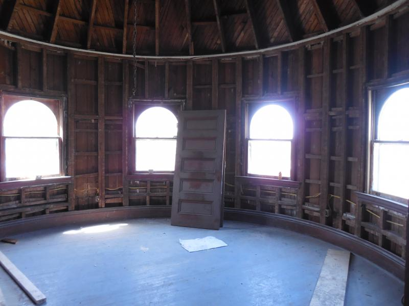A look inside the domed turret on the 3rd floor.