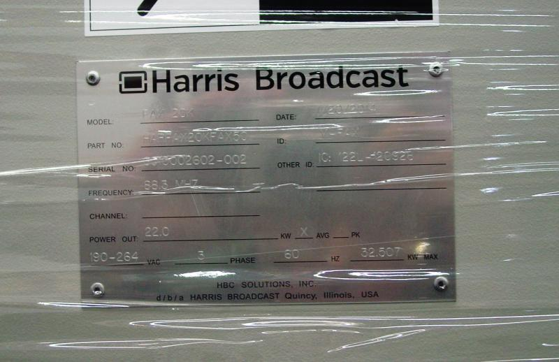 The brand new transmitter plate, still in shrink wrap. Notice the frequency!