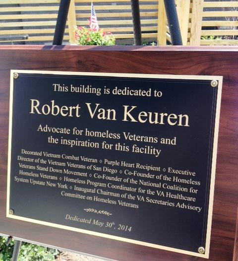 The dedication plaque.