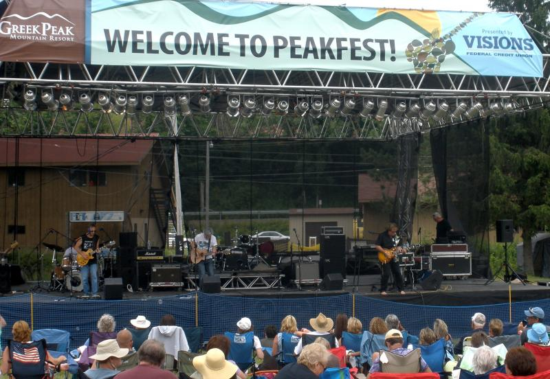 Todd Hobin's Band from CNY started Peakfest off