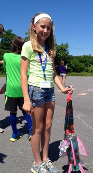 Kelsie Bottari with her rocket