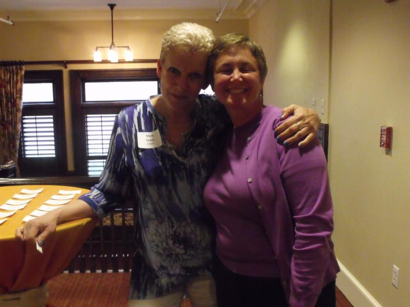 WAER Development Director Mary Evans (left) organized the weekend's activities