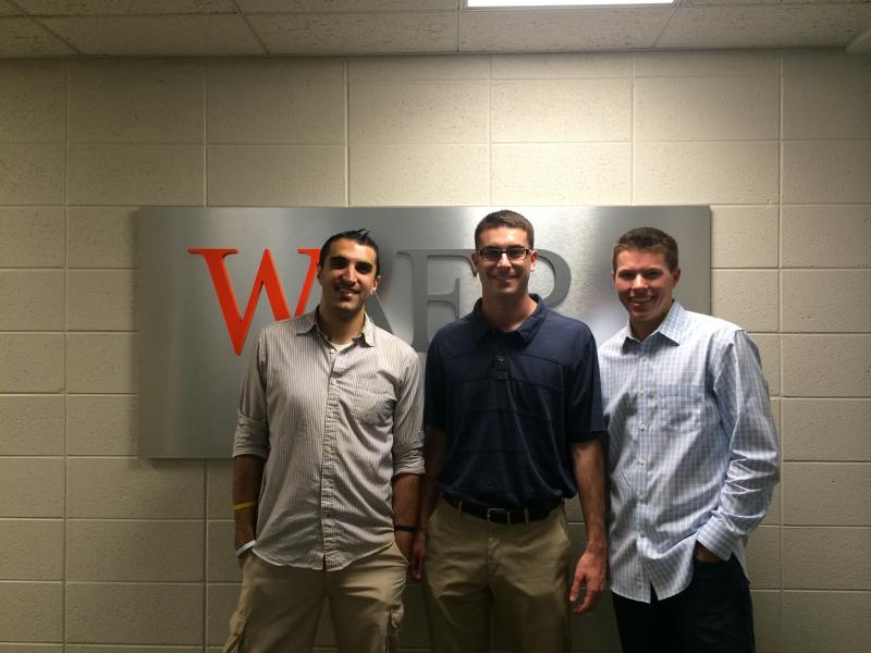 Dan Moscaritolo, Andrew Kanell and Travis Eldridge return to WAER for Reunion Weekend