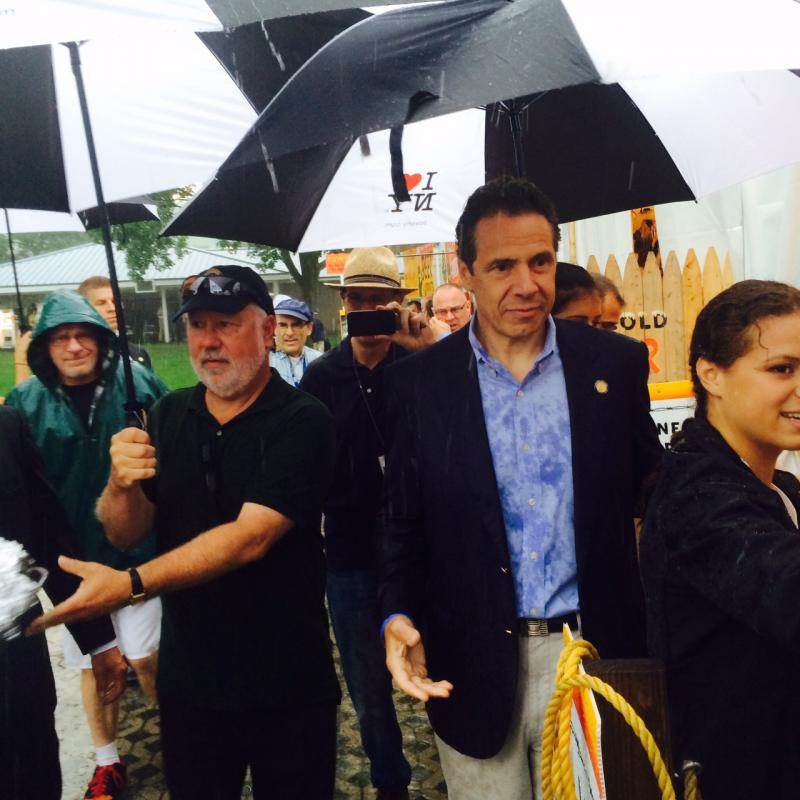 Gov Cuomo greeted by downpour as he opens New York State Fair