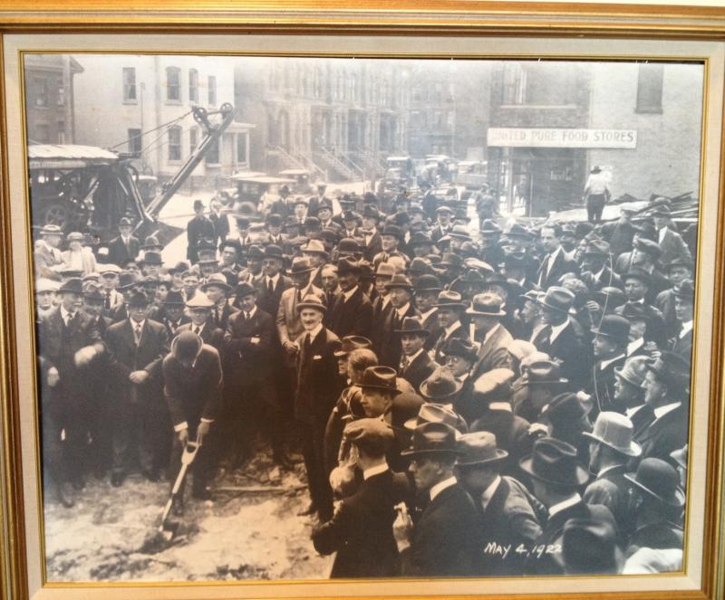 A photo of the Hotel Syracuse groundbreaking in 1922.  On August 16th, it marked its 90th birthday.