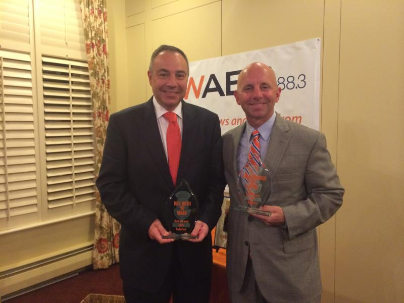 WAER Hall of Fame inductees Bill Roth and Sean McDonough