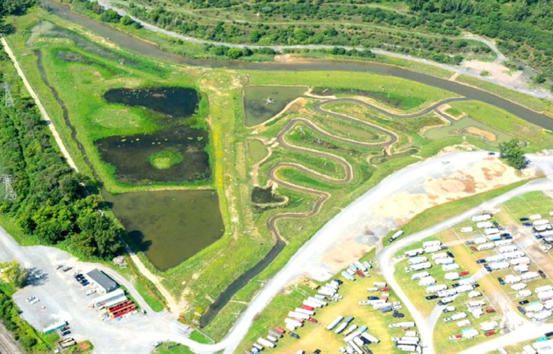 Geddes Brook and wetlands after restoration.