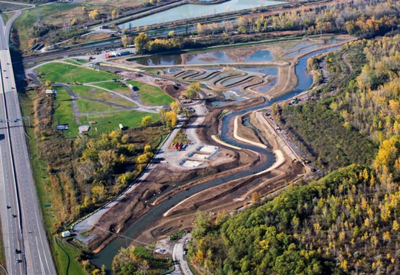 Nine Mile Creek after restoration.