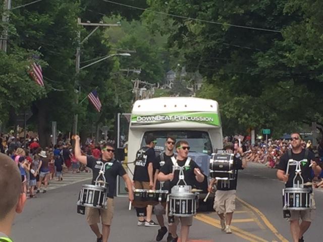 Downbeat Percussion at Camillus Parade