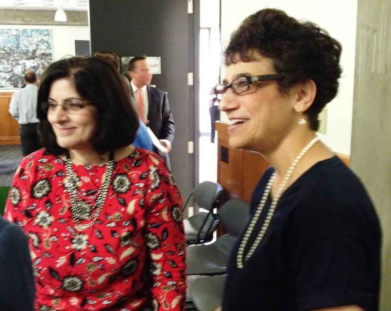 Literacy Coalition Executive Director Virginia Carmody and Le Moyne College President Dr. Linda LeMura.
