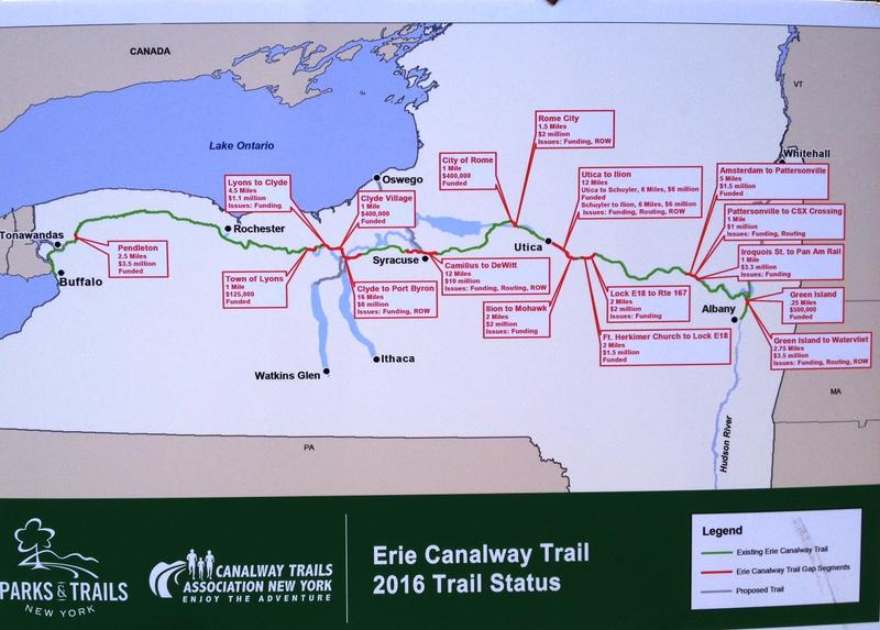 This map shows the various gaps in the canalway trail.